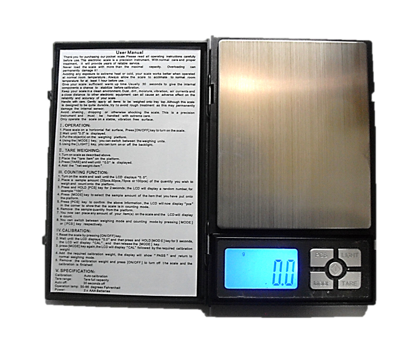 Notebook scale